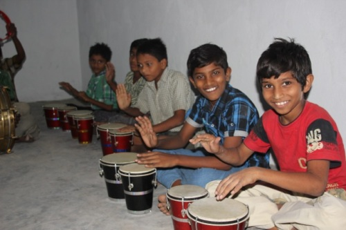 Kids in India Drums Class