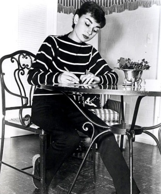 audrey hepburn writing a letter