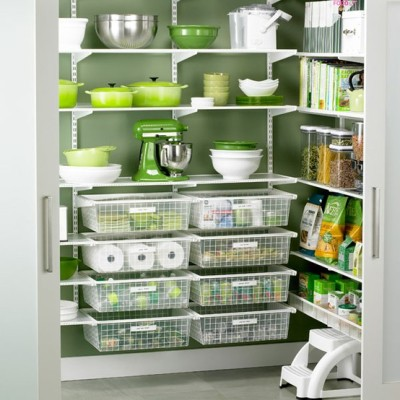organized green pantry