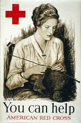 vintage red cross poster volunteering
